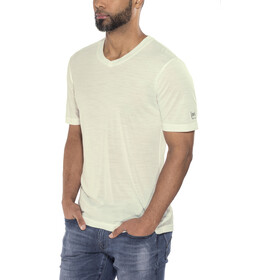 super.natural Base V Neck Tee 140 Herr fresh white